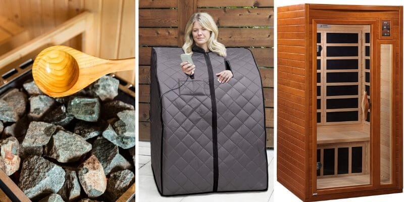 different type of sauna