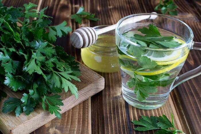 parsley tea detox