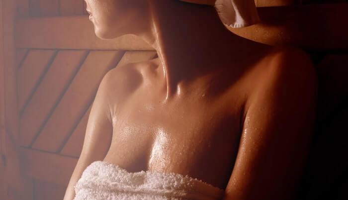 sauna sweat