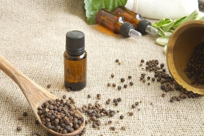 black pepper essential oil hangover