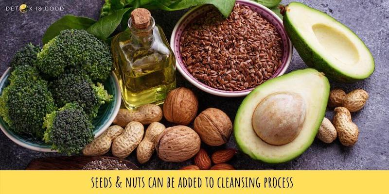 seeds nuts during juice cleanse