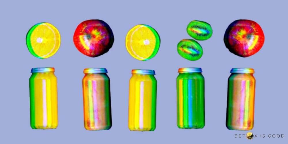 fruit juice kiwi apple lemon