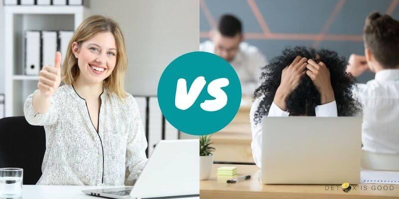 happy vs unhappy employee
