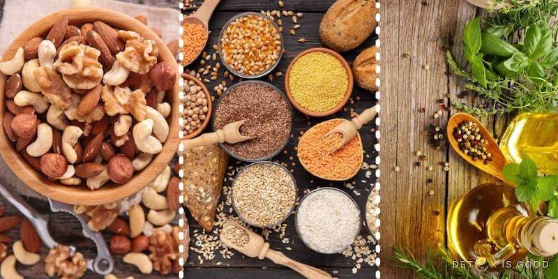nut seeds olive oil