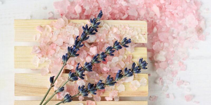 pink salt lavender
