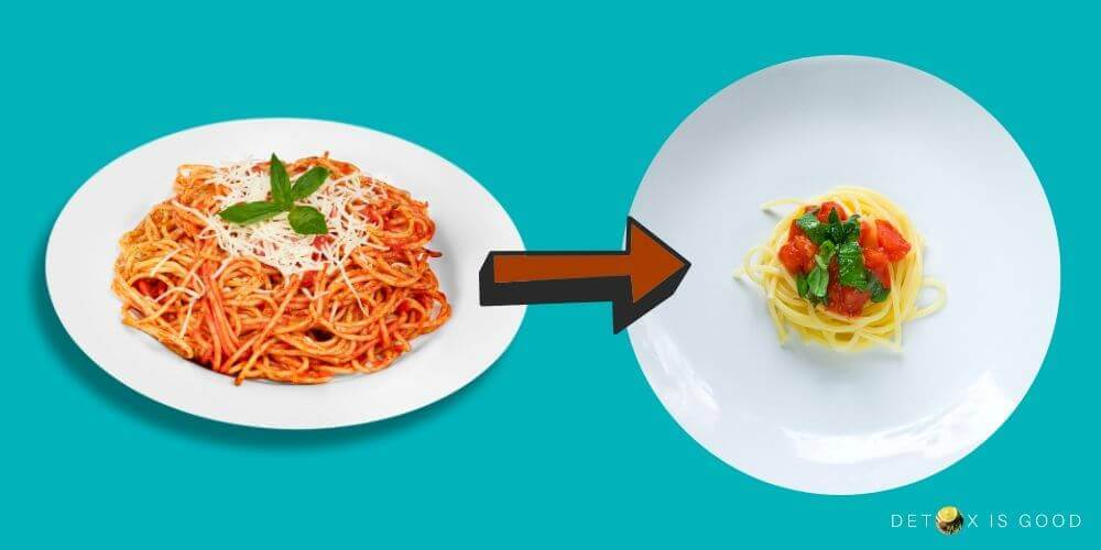 small portion food detox