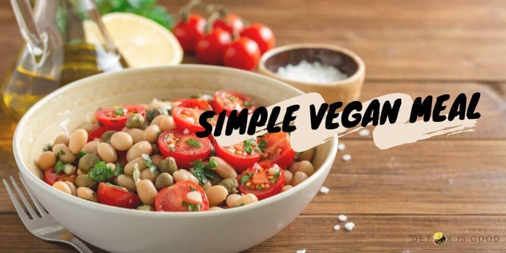 vegan meal bean