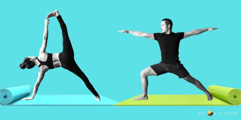 yoga man woman