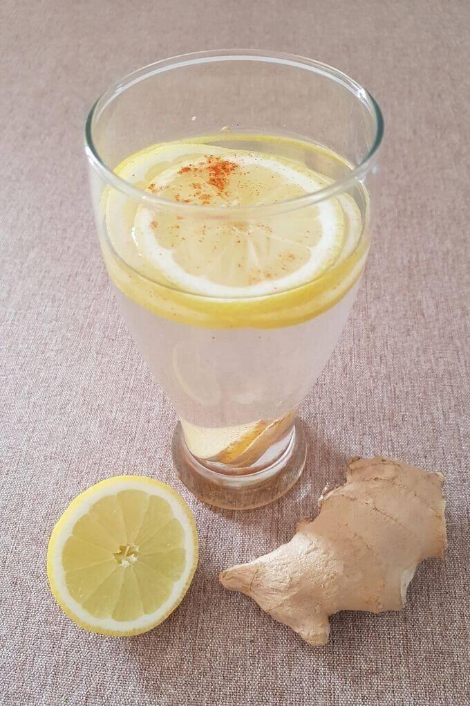 ginger lemon pepper detox water