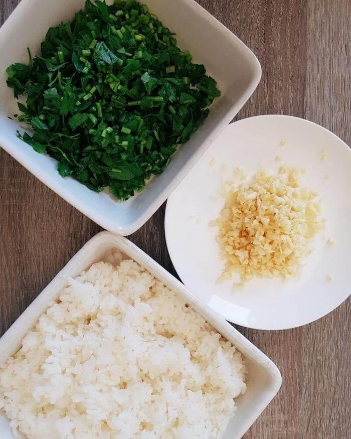 garlic rice prepare